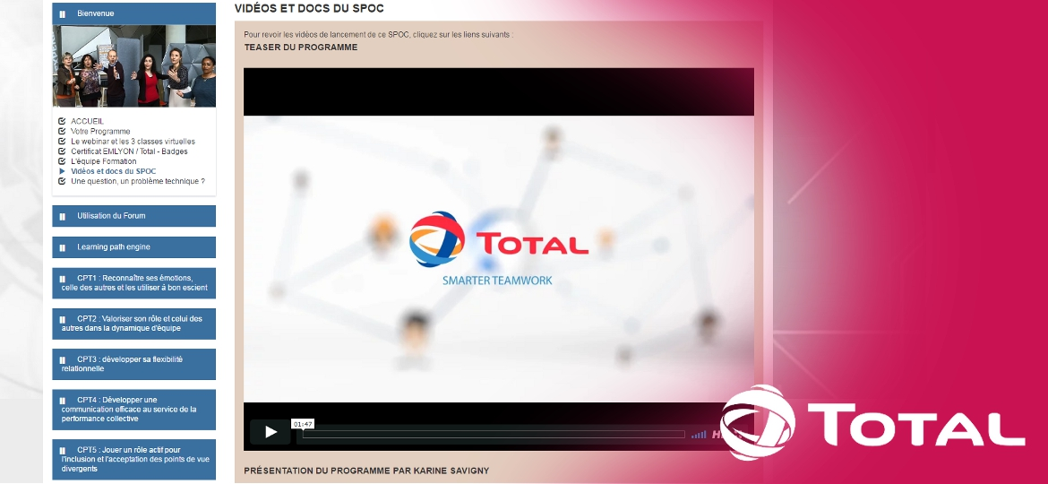 E-TIPI, TOTAL, Portail Formation Groupe